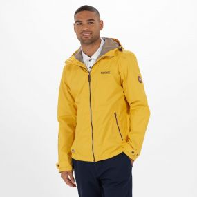 Mackson Hooded Waterproof Jacket Old Gold