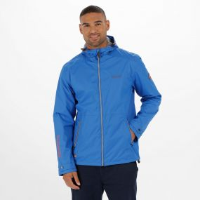 Mackson Hooded Waterproof Jacket Oxford Blue