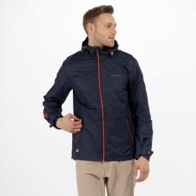 Mackson Hooded Waterproof Jacket Navy