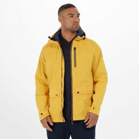 Hamlen Hooded Waterproof Jacket Old Gold