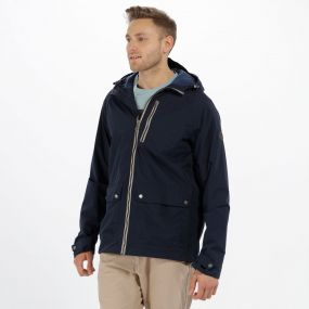 Hamlen Hooded Waterproof Jacket Navy