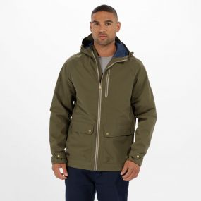 Hamlen Hooded Waterproof Jacket Ivy Green