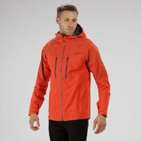 Montegra Reflective Waterproof Jacket Amber Glow