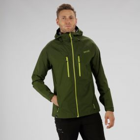 Montegra Reflective Waterproof Jacket Racing Green