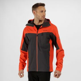 Men's Birchdale Waterproof Hooded Jacket Amber Glow Seal Grey