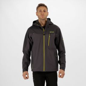 Men's Birchdale Waterproof Hooded Jacket Seal Grey Iron