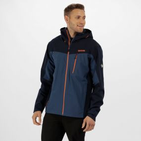 Men's Birchdale Waterproof Hooded Jacket Navy Dark Denim