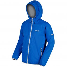 Lyle IV Concealed Hood Waterproof Shell Jacket Oxford Blue