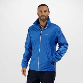 Lyle IV Waterproof Jacket with Concealed Hood Oxford Blue