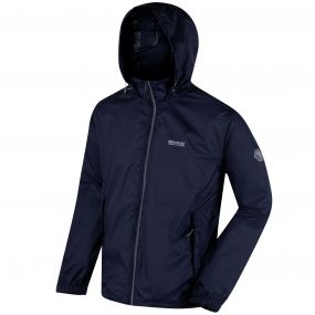 Lyle IV Concealed Hood Waterproof Shell Jacket Navy