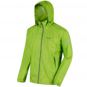 Lyle IV Concealed Hood Waterproof Shell Jacket Lime Green