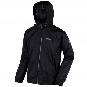 Lyle IV Concealed Hood Waterproof Shell Jacket Black