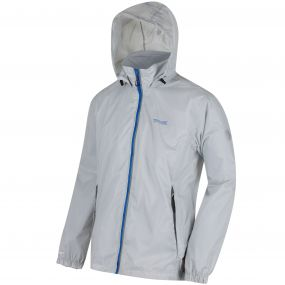 Lyle IV Concealed Hood Waterproof Shell Jacket Light Steel