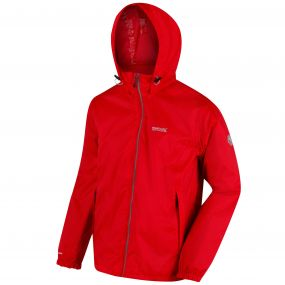 Lyle IV Concealed Hood Waterproof Shell Jacket Pepper