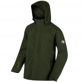 Northfield Stretch IV Concealed Hood Waterproof Jacket Racing Green