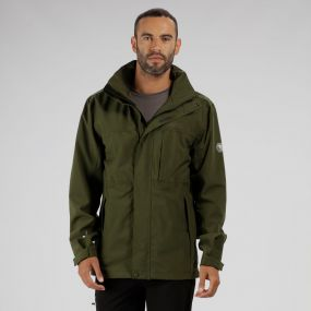 Northfield IV Waterproof Stretch Jacket with Concealed Hood Racing Green