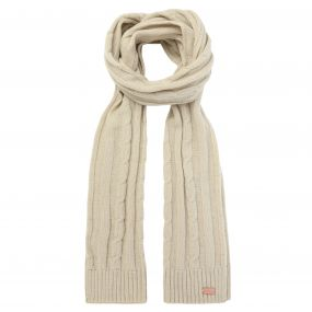 Multimix Cable Knit Scarf Light Vanilla