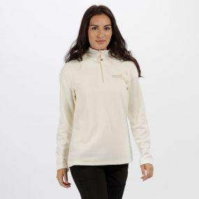 Sweethart Half Zip Lightweight Fleece Polar Bear Parchment