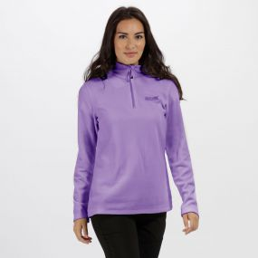 Sweethart Half Zip Lightweight Fleece Paisley Purple