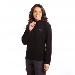 Sweethart Half Zip Lightweight Fleece Black