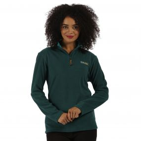 Sweethart Half Zip Lightweight Fleece Deep Teal