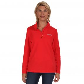 Sweethart Half Zip Lightweight Fleece Coral Blush