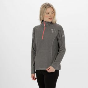 Women's Montes Lightweight Half Zip Fleece Dark Light Steel