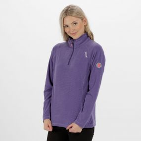 Women's Montes Lightweight Half Zip Fleece Elderberry