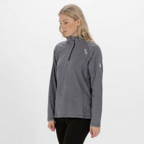 Women's Montes Lightweight Half Zip Fleece Navy White Stripe
