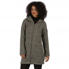 Radella Hooded Fleece Rock Grey