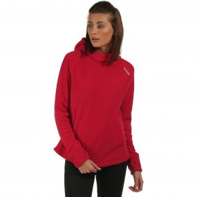 Womens Antero Hooded Fleece Dark Cerise