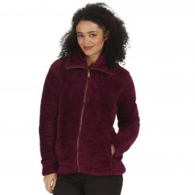 Halsey Fluffy Full Zip Fleece Fig
