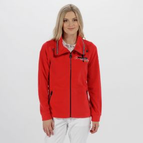 Darlene Lightweight Full Zip Fleece Lollipop
