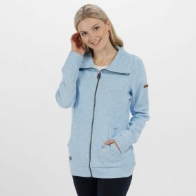 Elayna Full Zip Marl Fleece Hydrangea