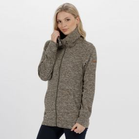 Elayna Full Zip Marl Fleece Ivy Green