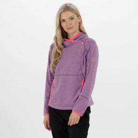 Women's Montem III Hooded Fleece Paisly Purple