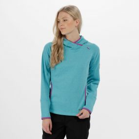 Women's Montem III Hooded Fleece Aqua