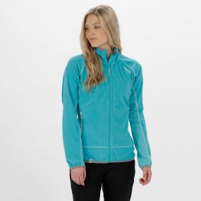 Jomor II Lightweight Full Zip Fleece Aqua