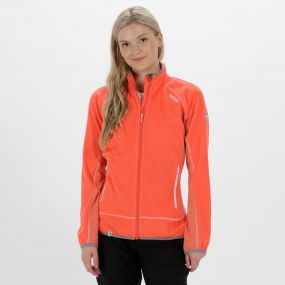 Jomor II Lightweight Full Zip Fleece Neon Peach