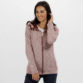 Ramosa Mid Weight Full Zip Fleece Black Cherry