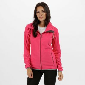 Women's Mons III Lightweight Full Zip Fleece Flamingo Pink Bright Blush