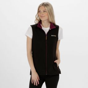 Sweetness II Lightweight Fleece Gilet Black Blackcurrant