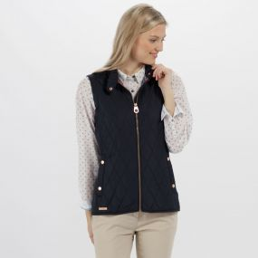 Camryn Quilted Gilet Navy
