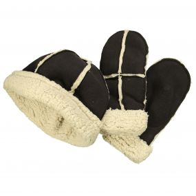 Womens Cozy Hat & Mitts Bourbon