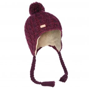 Women's Whirlwind Cable Knit Trapper Hat Fig