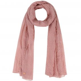 Sancia Printed Cotton Scarf Ash Rose