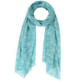 Sancia Printed Cotton Scarf Scarf Jade Green