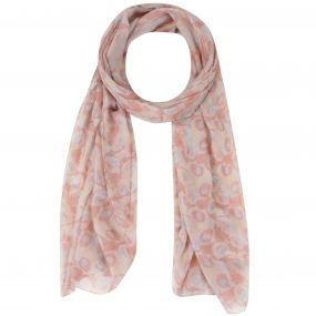 Sancia Printed Cotton Scarf Scarf White