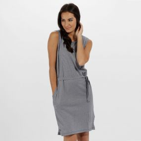 Haydee Coolweave Cottom Dress Navy