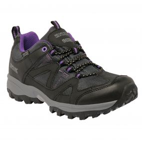 Lady Gatlin Low Walking Shoe Black Purple
